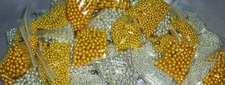 Седобные золотые шарики для кондитеров
