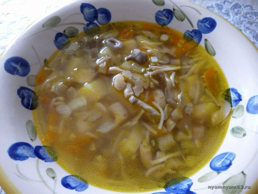 Суп с грибами вешенками рецепты простые
