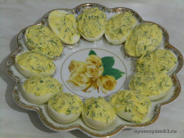 рецепт с яйца фото чесноком с